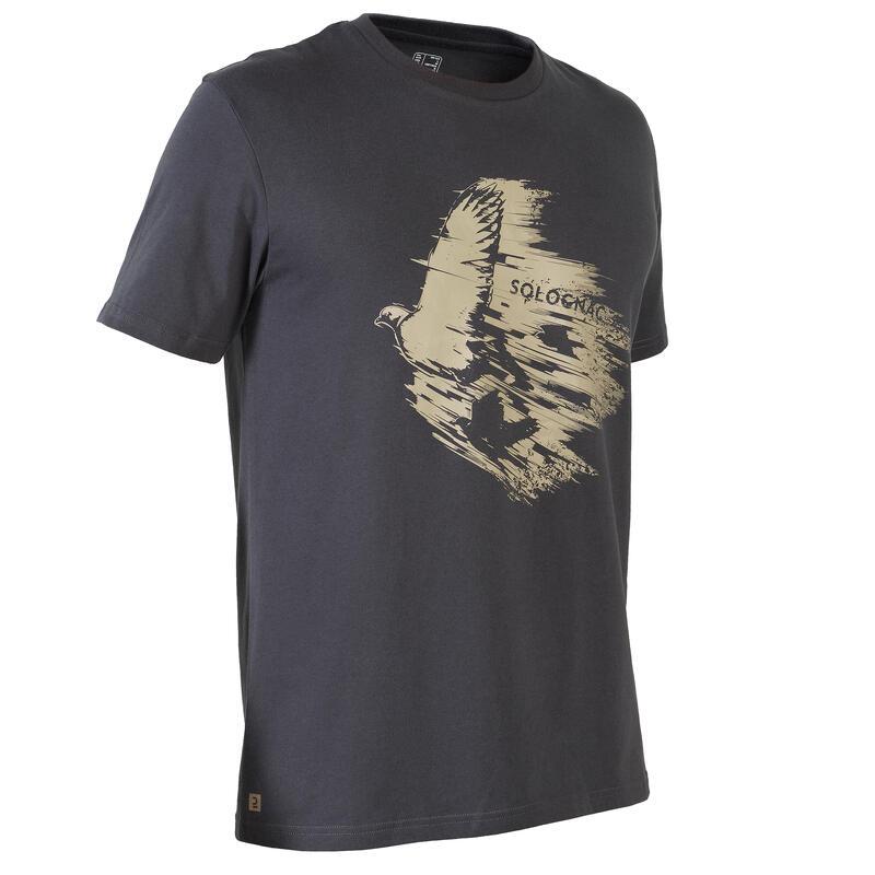 T-shirt met korte mouwen voor de jacht 100 duif