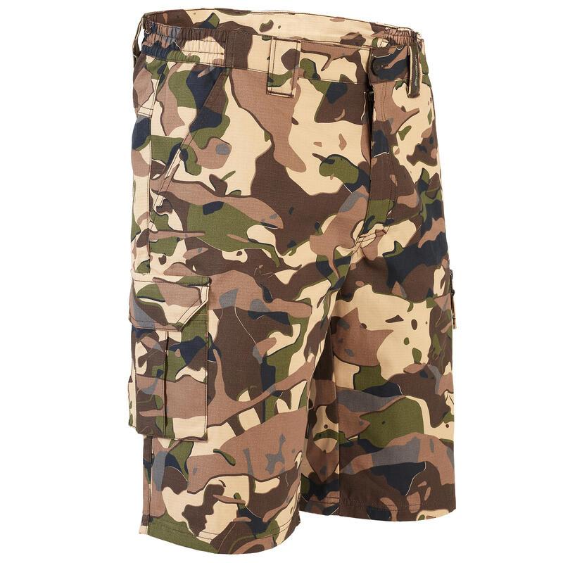 Bermuda shorts 500 - Woodland V1 brown LTD camouflage