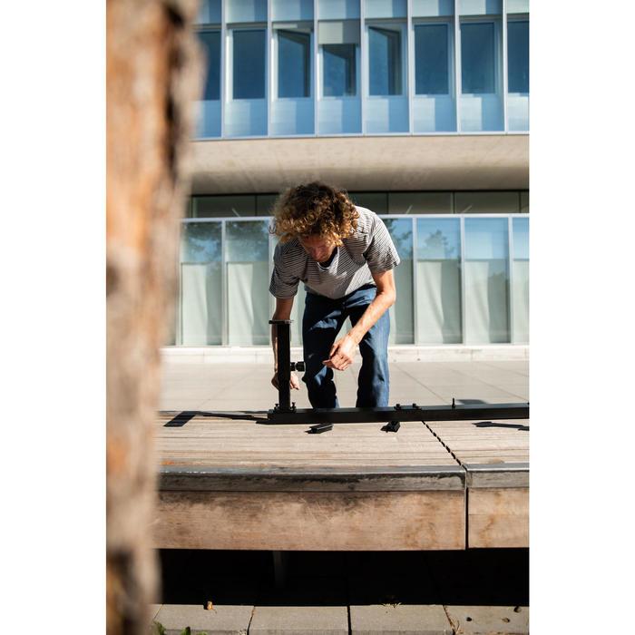 Sliderail / grindrail voor skateboard verstelbaar en koppelbaar zwart