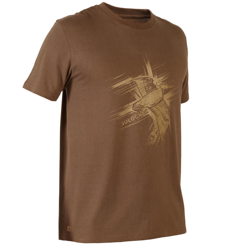 Camiseta Manga Corta Caza Solognac 100 Adulto Becada