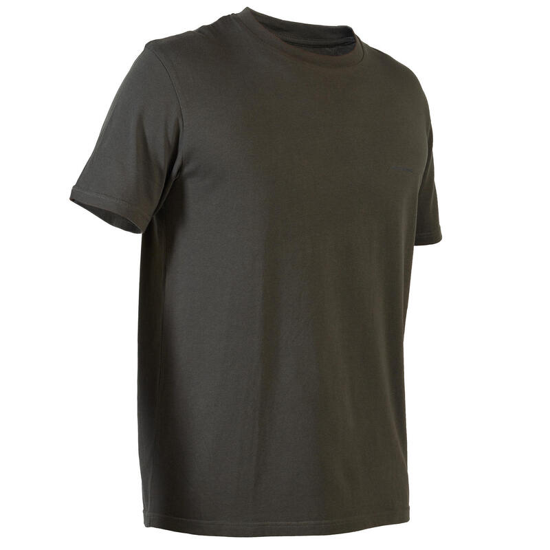 T-shirt manches courtes chasse 100 vert foncé