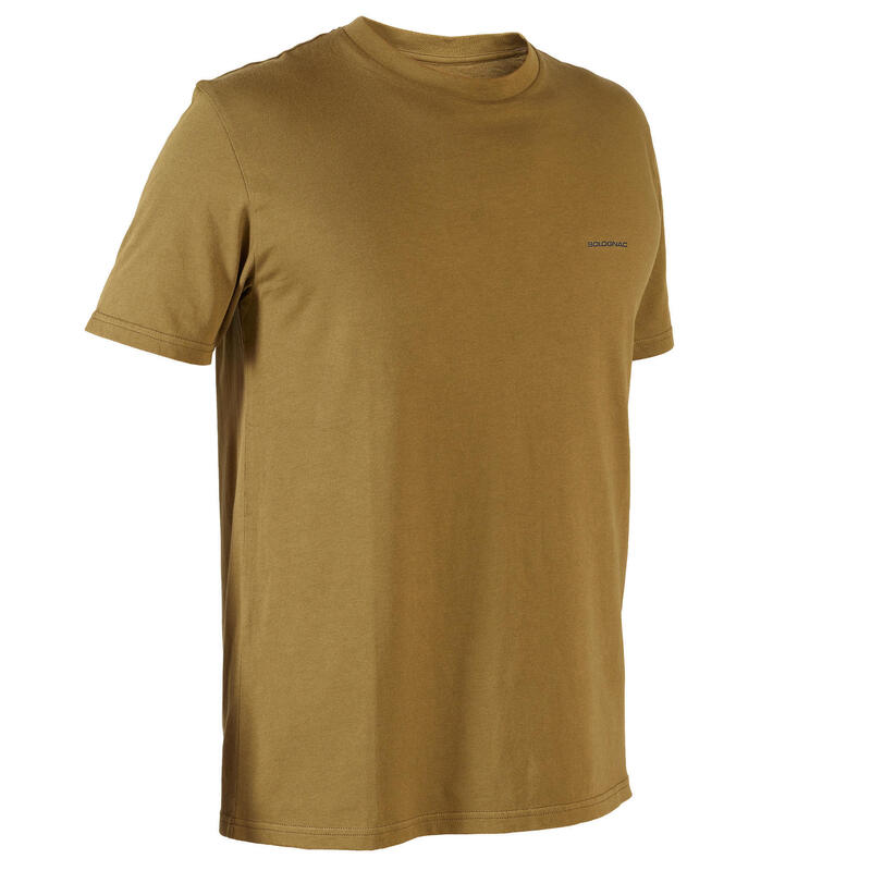 T-shirt manches courtes chasse 100 marron olive
