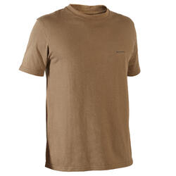 T-shirt manches courtes chasse 100 marron deep chocolate