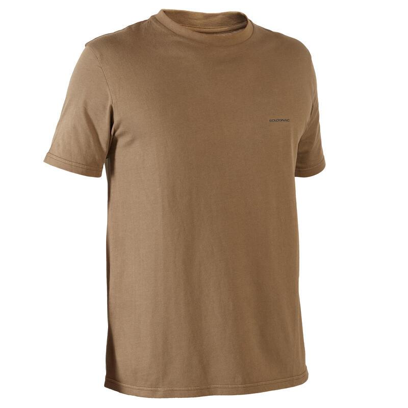 T-shirt met korte mouwen voor de jacht 100 chocoladebruin