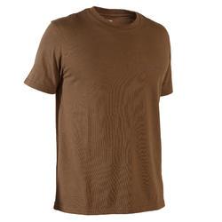 T-shirt de caça manga curta 100 castanho