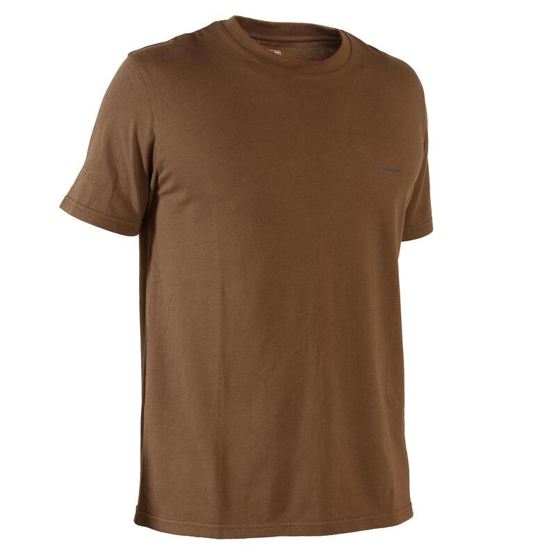 T-shirt met korte mouwen 100 bark bruin