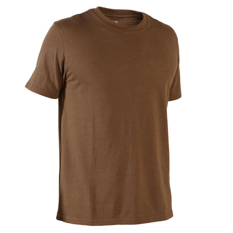 LOVSKE MAJICE/POLO MAJICE Oblačila - Lovska kratka majica 100  SOLOGNAC - Kratke majice
