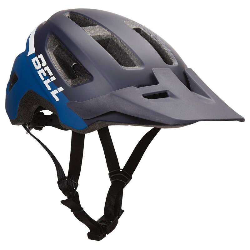 PŘILBY NA HORSKÁ KOLA Cyklistika - HELMA MTB INFLUX MODRÁ BELL - Cyklistické vybavení