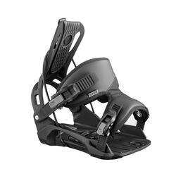 Snowboardbindingen voor heren piste / off-piste achterinstap Nexus zwart