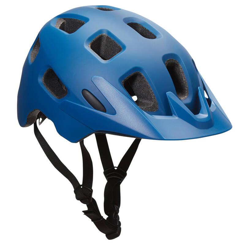 PŘILBY NA HORSKÁ KOLA Cyklistika - HELMA NA MTB BERM MODRÁ  BELL - Cyklistické vybavení