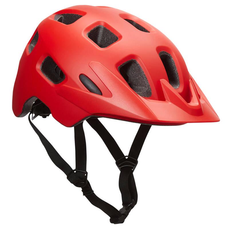 PŘILBY NA HORSKÁ KOLA Cyklistika - HELMA NA MTB BERM ČERVENÁ BELL - Cyklistické vybavení