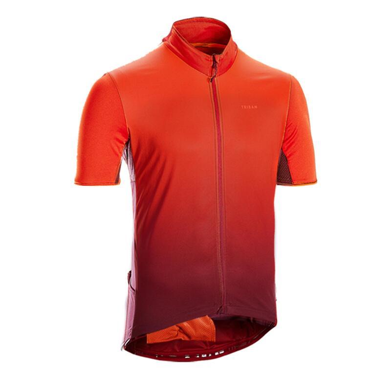 Fietsshirt met korte mouwen voor heren racefietsen RC500 bordeaux/rood