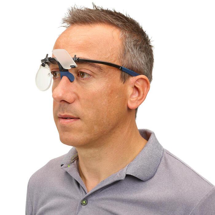 Monture de tir avec cache oeil et porte verre : Shooting Frame 100 bleu