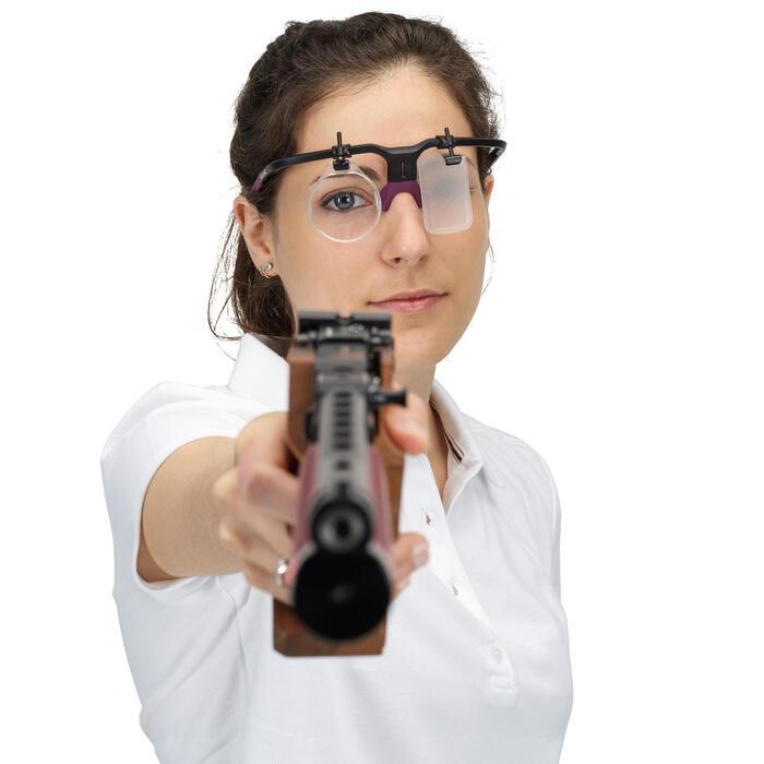 Monture de tir avec cache oeil et porte verre : Shooting Frame 100 prune