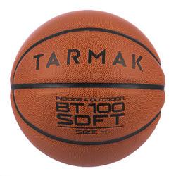 BT100 Kids' Size 4 Beginner Basketball, Under Age 6 - Orange