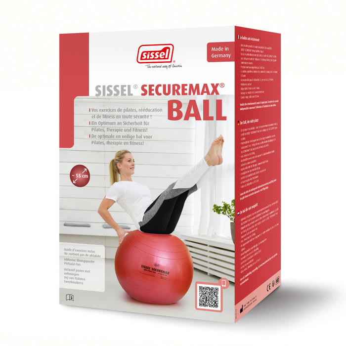 BALLON DE GYM SISSEL SECURE MAX FITNESS TAILLE 1 - 55CM ROSE