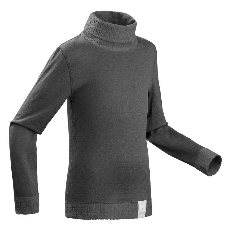 Thermoshirt voor skiën kinderen 2WARM grijs