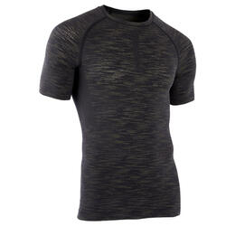 T SHIRT COMPRESSION MUSCULATION CHINE GRIS KAKI
