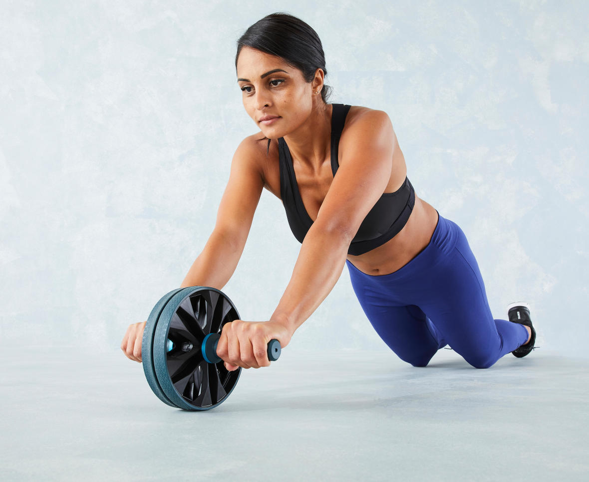 Work on your abs with the ab wheel