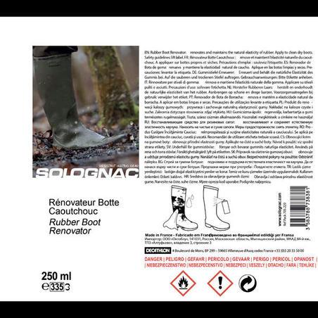 Gumijas zābaku kopšanas un atjaunošanas līdzeklis