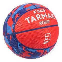 兒童款3號籃球K500-紅色(適合6歲以上兒童)。