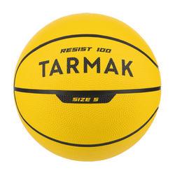 Bola de Basquetebol Tamanho 5 Criança Principiante até 10 Anos R100 Amarelo.