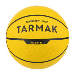 R100 Size 5 Basketball - Yellow Perfect for beginners. Durable