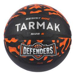 兒童款/女款初學者6號籃球R500 - 黑橘配色