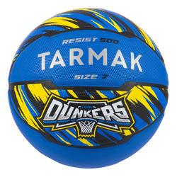 男款(13歲以上)7號初學者籃球R500 - 藍色