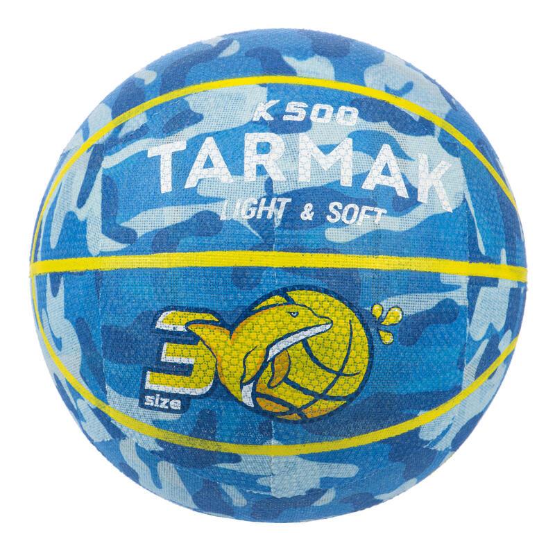 Ballon de basket K500 Bleu pour enfant basketteur débutant jusqu'a 6 ans.