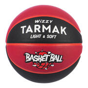 Kids' Size 5 (Up to 10 Years) Basketball Wizzy - Black/Burgundy