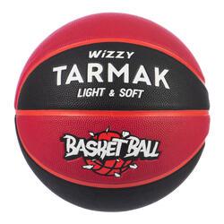 Bola de Basquetebol Criança até 10 Anos Wizzy Tamanho 5 Preto/Bordô