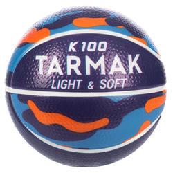K100 Schaumstoff Basketball Mini K100 Größe 1 Schaumstoff Kinder violett/blau