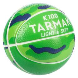 K100 Schaumstoff Basketball Mini K100 Größe 1 Schaumstoff Kinder grün/blau