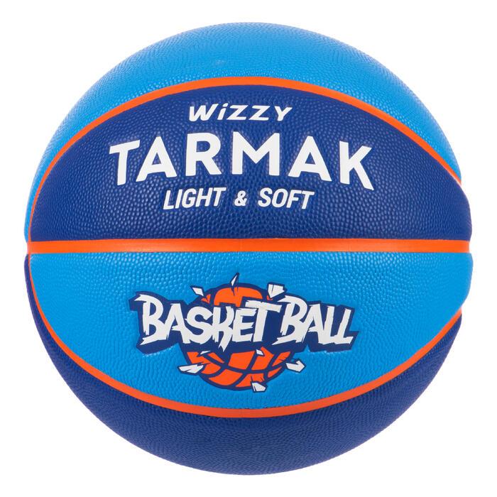 Ballon de basket enfant Wizzy basketball bleu taille 5 jusqu'a 10 ans.