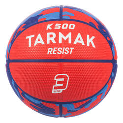 Kids' Size 3 Basketball K500 - RedFor children up to age 6.