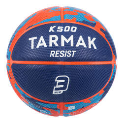 Bola de Basquetebol Criança K500 Tamanho 3 Azul. P/ baby-basket até 6 anos