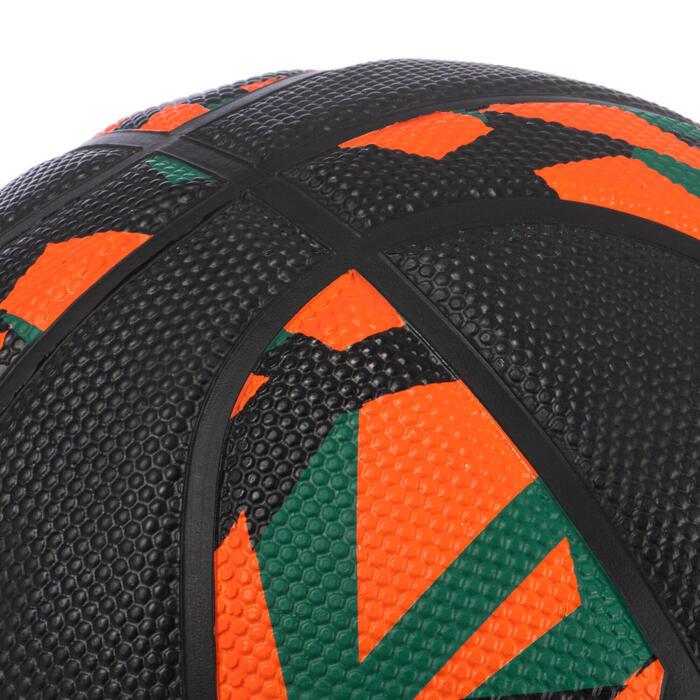 Basketball Resist R500 Größe 5 für Kinder bis 10 Jahren orange/schwarz