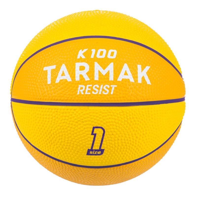 Mini Balón de Baloncesto Talla 1 Amarillo