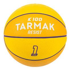 Mini B Kids' Size 1 Basketball Up to age 4.Yellow/Purple
