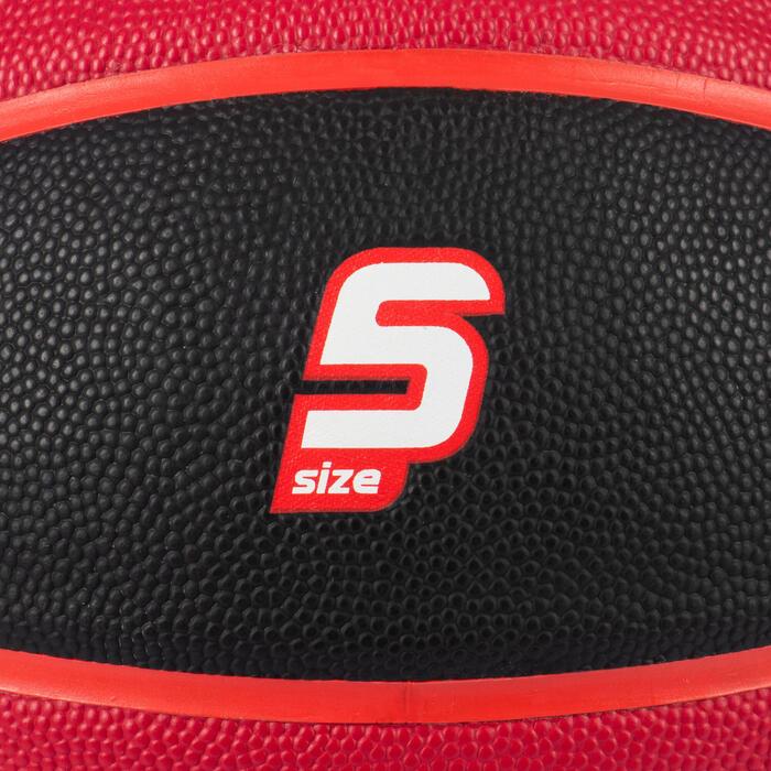 Basketball Wizzy Größe 5 für Kinder bis 10 Jahren schwarz/bordeaux