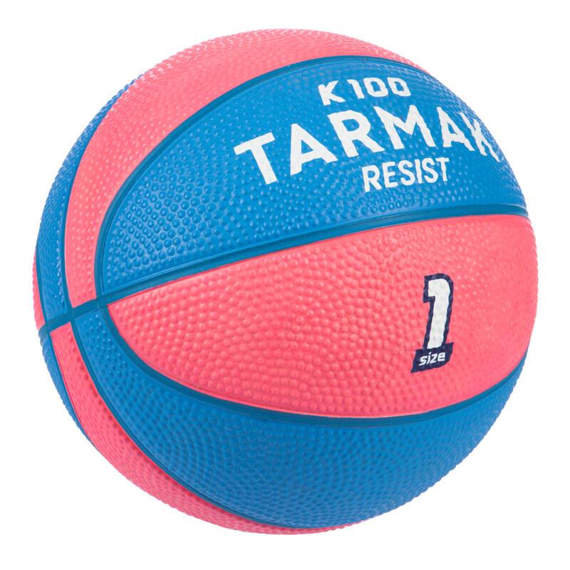 兒童款(4歲以下)1號籃球Mini B-粉紅色配藍色
