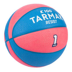 Mini B Kids' Size 1 Basketball Up to age 4.Pïnk/Blue