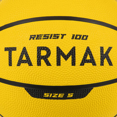 R100 Size 5 Basketball Perfect for Beginners - Yellow. Durable