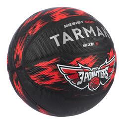 Ballon de basket enfant R500 T 5 Rouge Noir jusqu'à 10 ans pour débuter.