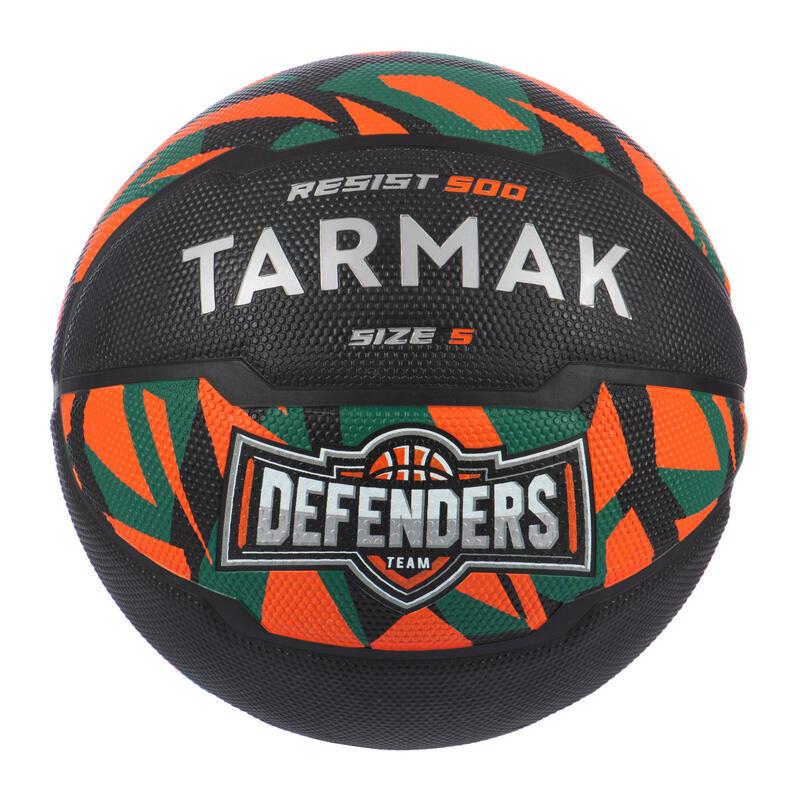 Dětský basketbalový míč R500 velikost 5 oranžovo-černo-zelený