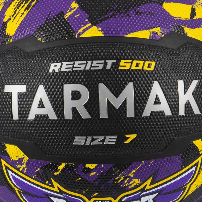 Basketball R500 Größe 7 ab 13 Jahren schwarz/violett