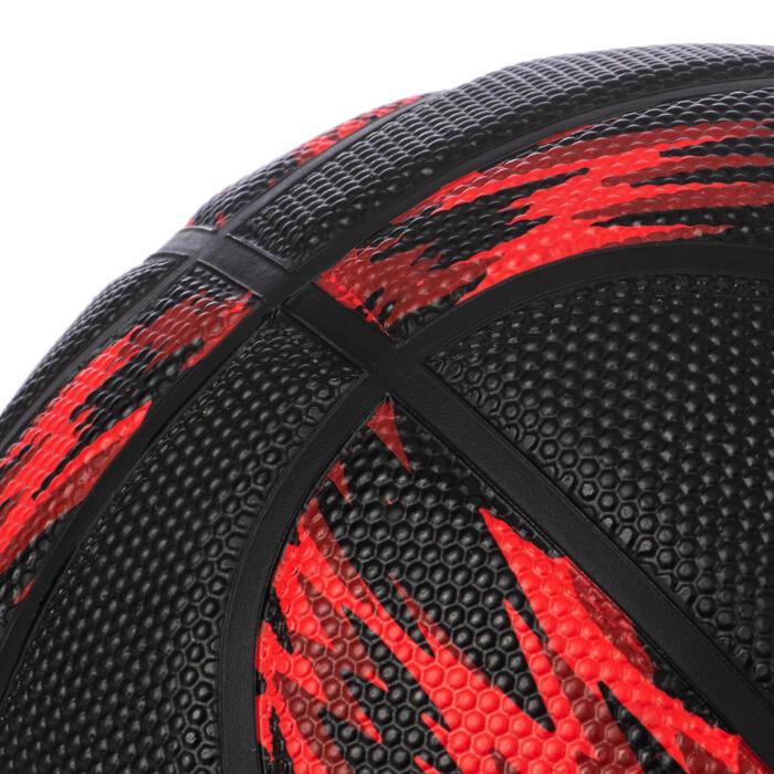 Basketball R500 Größe 5 für Kinder bis 10 Jahren rot/schwarz