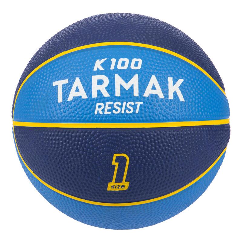 Mini Basketbol Topu - 1 Numara - Sarı / Mor - K100K100Mavi