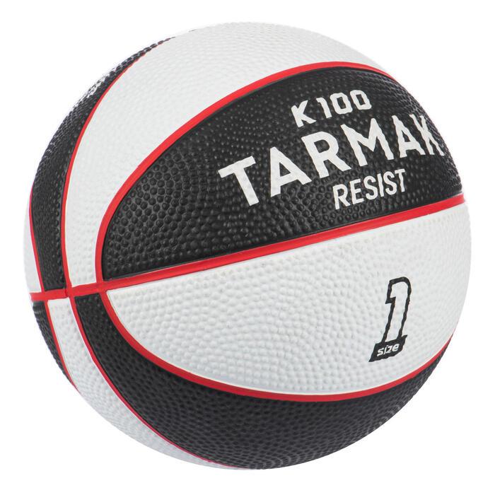 Mini B Kids' Size 1 Basketball Up to age 4.Black/White